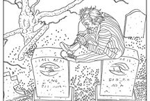 Halloween coloring pages / Discover our Halloween coloring pages for grown ups and adults, from our website www.coloring-pages-adults.com