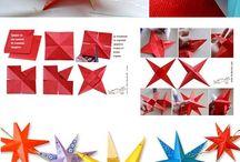 Ster maken / Knutselen voor kerstmis ster maken