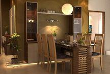 Mesa de jantar com armario