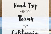 California - Texas Road Trip
