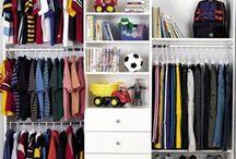 Organizing: Kids' Closets / Kids' closets, organization. I hate dressers.