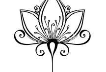 dessins mandala calligraphie