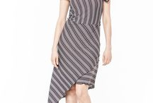 АГ_014Мини-платье ассиметричное узкие коричневые полоски