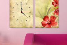 2 Parçalı Saat tablolar / Hemenposter.com markalı tablolarda,Türkiye'nin önde gelen % 100 pamuklu 370 gr 1. sınıf orjinal sanatsal kanvas kumaş markası olan pesent'e markalı ürünler ve HD baskı kalitesiyle dünyada 1 numara olan HP markalı baskı sistemleri ve yine dünya sağlık örgütü  tarafından onaylı HP markalı mürekkepler kullanılmaktadır.