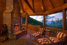 Log Home Porches & Decks / View some of the beautiful porches our homeowners have designed and the vistas they offer!
