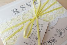 Wedding invitations with lace / Wedding stationery with lace