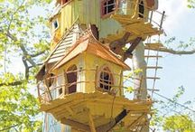 Tree Houses and unique playhouses. / Cross a kid with a dream with a kid at heart with money and the space, what do you get....well, look for yourself. / by Laura Vasquez
