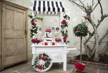 Candy carts / Sweets Carts / Our beautiful Victorian candy cart set up at different events  - Birthdays - Weddings - Babyshowers - Children's parties