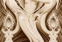 скульптурные рисунки