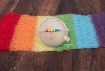 Newborn Photo Props - Rainbow Babies <3 / Newborn photo props by www.tinytotpropshop.com high quality props for the best newborn posing! Baby Photo Props, Photography Props, Photography