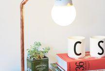 DIY luminárias