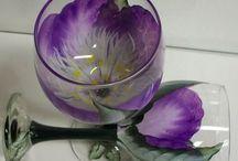 Üvegfestés pohár