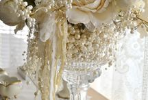 Flowers and Pearls / pretty uses of flowers and pearls to admire and inspire