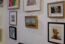 Collage / Piccoli collage in permanenza Dicembre 2014 /2015 c/o la Galleria Officina dell'Arte - Via Fonteiana - Roma