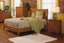 """Amish Bedroom Sets / Our Amish-made bedroom sets are built to last a lifetime. Made from select American hardwoods such as solid oak, cherry, and maple, they are 100"""" solid wood inside and out. The bed rails have a """"no rock"""" solid bed assembly by using in-line industrial lag bolt and dowel between the head and foot boards for a """"no rock"""" joint for a quiet rest."""