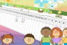 École calendrier temps