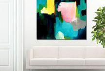 abstrakt malerier