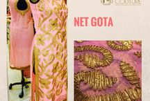 Gota Work on Net Fabric / Authentic Gota work on pure net fabric, exclusively available at Fab Couture!
