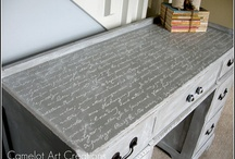 Crafty Updo / Inspiration & ideas for reusing old furniture:Painted furniture,antique & shabby redo,retro repurposing,painting & staining tips,decorative graphics & decoupage / by Dixi Waters