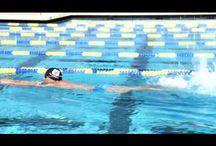 Nik and Alex swimming