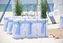 A Light Blue Beach Wedding / Big Day Weddings, Light Blue wedding theme, Orange Beach Alabama, Gulf Shores Alabama, Gulf Coast Weddings, Alabama Beach Weddings, Beach Weddings, Color Schemes, Wedding Themes