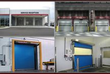 Rytek (Rytec) Fast Speed Doors / Rytek (Rytec) fast speed overhead doors are for parking garages, car dealerships, freezer rooms, cold storage centers and pharmaceutical clean rooms. The high speed coiling doors have material options of Rilon, vinyl, aluminum and rubber.