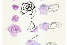 Paint flowers