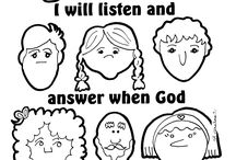 Samuel listen to God coloring