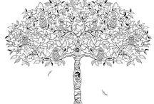 Sarah's Zentangle Tree designs