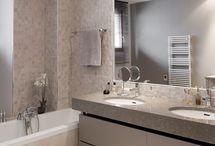 Salle de bain minérale
