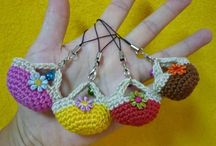 Crochet - key ring holders