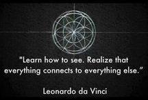 Art...Leonardo da Vinci / Amazing and never-endingly fascinating polyglot.