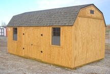 Side Loft / The Side Loft is one of our most popular styles.  Standard features include 2 windows, double doors, and 2 lofts.