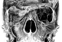Tá osso / Skeletons & skulls / by WAguiar