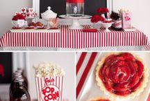 Mesas de Festa / Decoração de mesas de comida em diferentes eventos : Chá, aniversário, casamento...