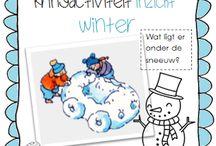 Thema winter in groep 1 en 2