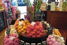 Shop display for soaps and lotions