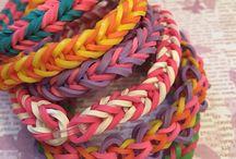 Браслеты rainbow loom / Браслеты из резиночек