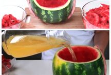 Watermelon sangria / Fruit wine punch