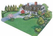 Lay out a garden
