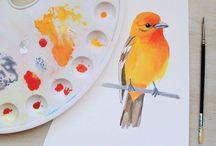 Рисунки красками