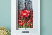 POPPY FRAMING / Beautiful display, custom made by our master framers for your ceramic poppy. Display your poppy in our stylish white box frame with triple white mounts and picture backdrop with metal plaque in commemoration to the stunning display 'Blood Swept Lands and Seas of Red' which have been on display in one of our iconic landmarks the Tower of London.
