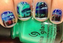Northern lights nails / nail art