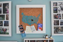 Been There, Pinned That! / Painted Cork Maps to showcase your travels!