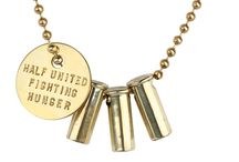 "Keep it ""Classic"" / Our Classic Fighting Hunger Necklace Styles!  http://halfunited.com/product-category/fighting-hunger-necklaces/ / by HALF UNITED"