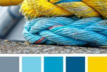 Blue colour schemes