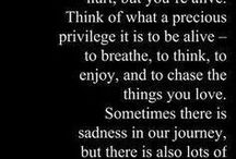 Life / Words about life