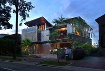 contemporary tropical house