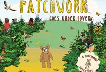 Patchwork Goes Under Cover / As he searches for a quiet, safe place to sleep, Patchwork encounters a host of other animals looking for their own safe and restful places–flying creatures such as birds and butterflies, wintry penguin friends, and big, wild bears.  Each spread is a visual celebration, with Jacqueline's distinctive, gorgeous collages depicting whimsical creatures using fantastical imagery, rich colors, and pleasing patterns.