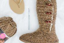 Crochet boots using jandals